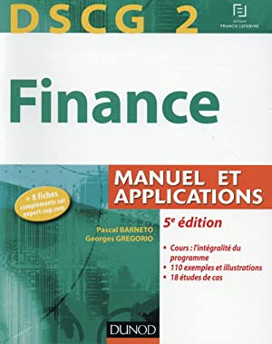 DSCG 2 - finance - manuel et applications (5e édition)