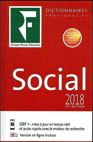 le dictionnaire social (édition 2018): Collectif Revue Fidu