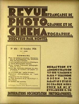 REVUE PHOTO CINEMA N° 404 DU 15