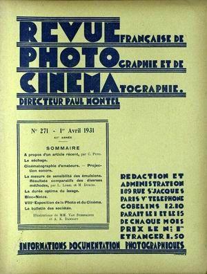 REVUE PHOTO CINEMA N° 271 DU 01