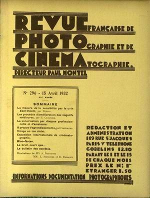 REVUE PHOTO CINEMA N° 296 DU 15