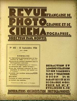 REVUE PHOTO CINEMA N° 402 DU 15