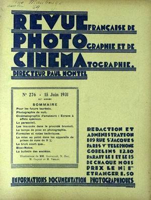 REVUE PHOTO CINEMA N° 276 DU 15
