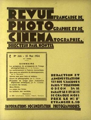 REVUE PHOTO CINEMA N° 346 DU 15