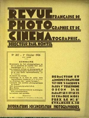 REVUE PHOTO CINEMA N° 387 DU 01