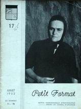 PETIT FORMAT REVUE D'INFORMATION PHOTO ET CINEMA