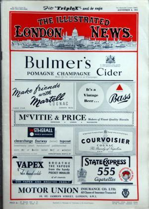ILLUSTRATED LONDON NEWS (THE) N° 5925 DU 08 11 1952
