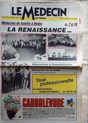 MEDECIN DE FRANCE (LE) N° 383 DU