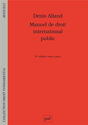 manuel de droit international public (6e édition)