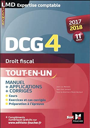 DCG 4 - droit fiscal - manuel et applications (édition 2017 2018)