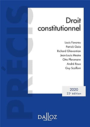 droit constitutionnel (édition 2020)
