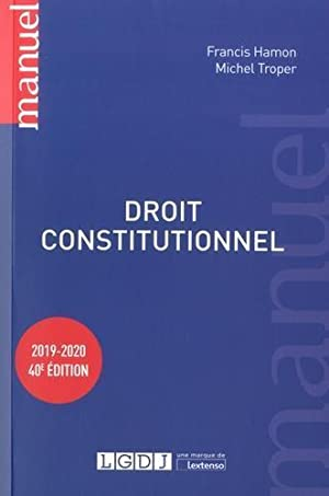 droit constitutionnel (édition 2019 2020)