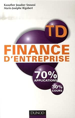 td finance d'entreprise - 70% applications, 30% cours