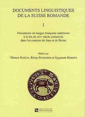 Documents linguistiques de la Suisse romande
