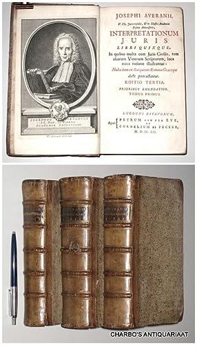 Josephi Averanii, Interpretationum juris libri quinque, in: AVERANI, GIUSEPPE,