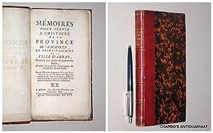 Mémoires pour servir à l'histoire de la: HARDUIN, [ALEXANDRE-XAVIER],