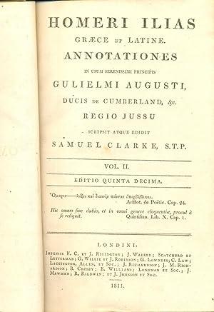 Homeri Ilias, Graece et Latine.Vol II: Clarke, Samuel