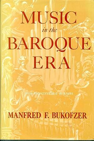 Music in the Baroque Era: Mf Bukofzer