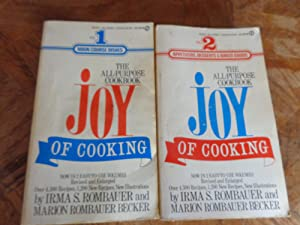JOY of Cooking Vol. 1 and Vol.: Irma S. Rombauer,