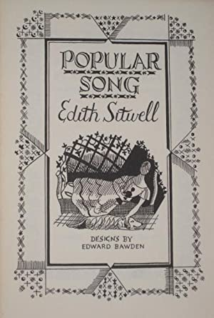POPULAR SONG: Sitwell, Edith (SIGNED)