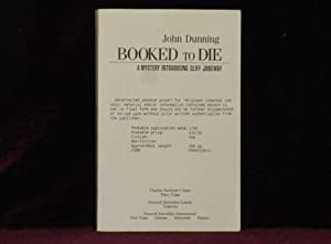 BOOKED TO DIE. A Mystery Introducing Cliff Janeway