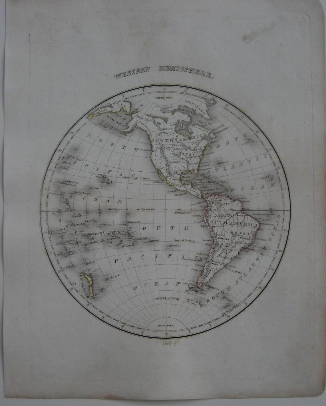 Original 1835 dford Map WESTERN ... on