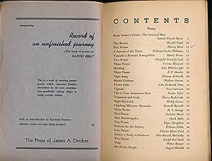 Compass a Journal of Modern Verse February 1940 Volume II, Numbers 2 & 3: Decker, James A.