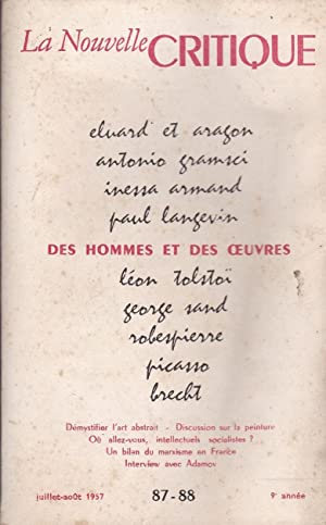 LA NOUVELLE CRITIQUE - REVUE DU MARXISTE: P. CHARBONNEL /