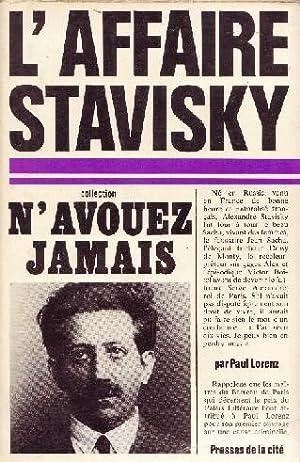 L AFFAIRE STAVISKY --: PAUL LORENZ