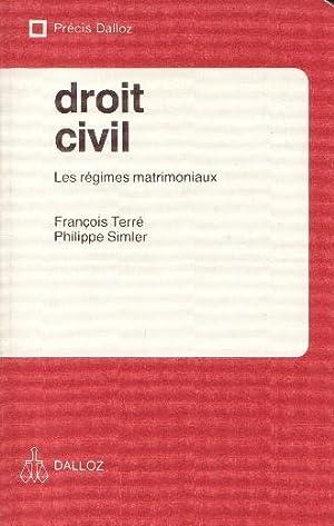 DROIT CIVIL - LES REGIMES MATRIMONIAUX --: FRANCOIS TERRE / PHILIPPE SIMLER