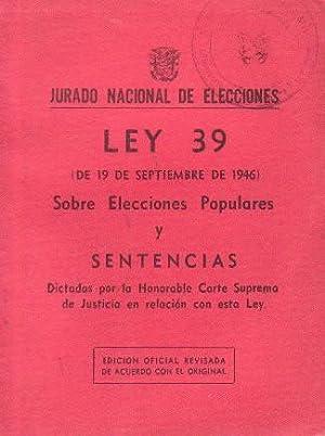 JURADO NACIONAL DE ELECCIONES - LEY 39
