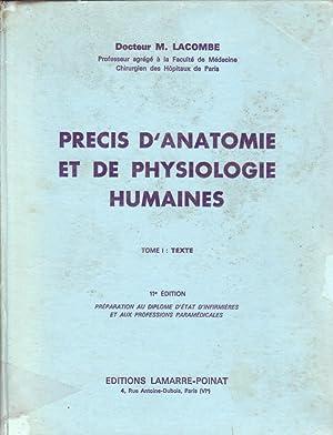 PRECIS D ANATOMIE ET DE PHYSIOLOGIE HUMAINES: DOC. LACOMBE