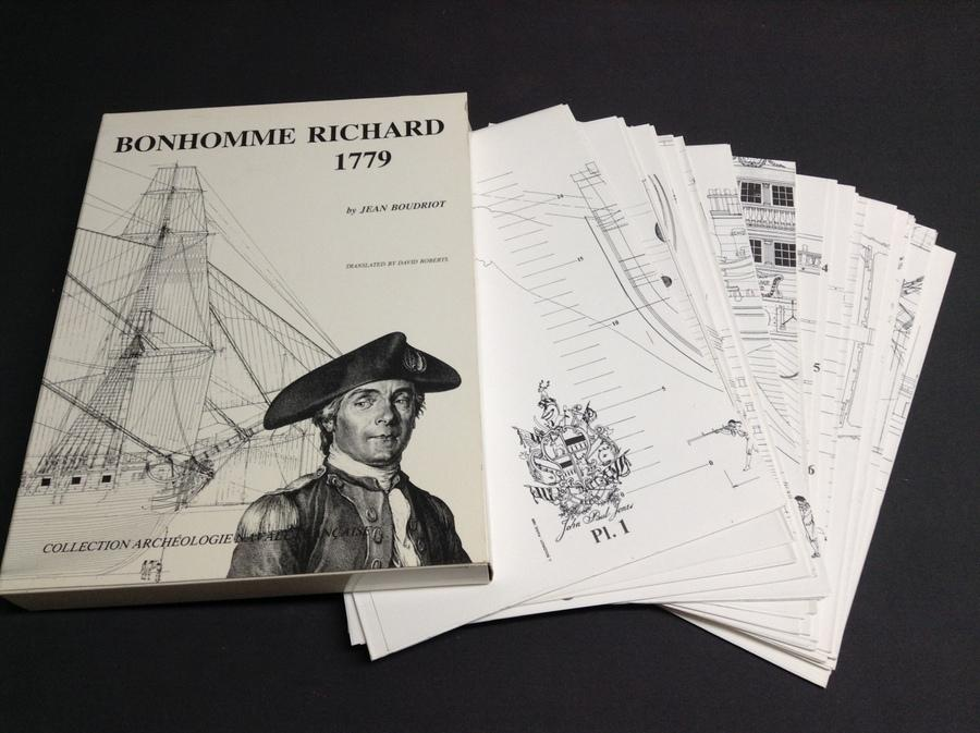bonhomme richard 1779 monograph and plans