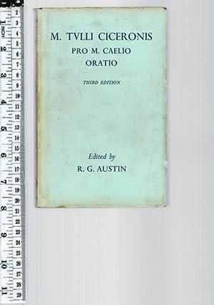 M. Tulli Ciceronis 'Pro M. Caelio Oratio': CICERO (Edited by