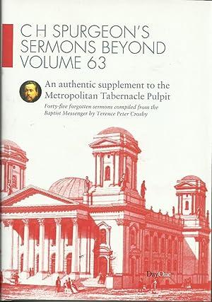 C H Spurgeon's Sermons Beyond Volume 63: Crosby, Terence Peter