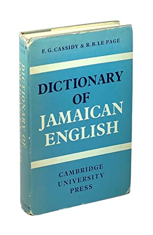 Dictionary of Jamaican English [Inscribed to William Safire and June Jordan]