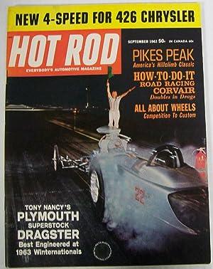 Hot Rod Magazine, September 1963, Volume 16,: Greene, Bob (Editor)