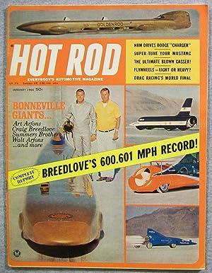 Hot Rod Magazine, January 1966, Volume 19,: Greene, Bob (Editor)