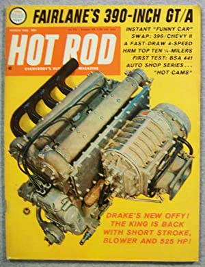 Hot Rod Magazine, March 1966, Volume 19,: Greene, Bob (Editor)