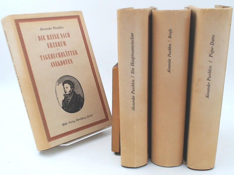 Alexander Puschkin - vier Bände in gleicher: Puschkin, Alexander: