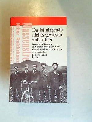 Da ist nirgends nichts gewesen außer hier.: Althaus, Hans-Joachim und
