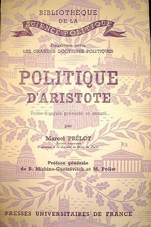 Politique d'Aristote: PRELOT, Marcel