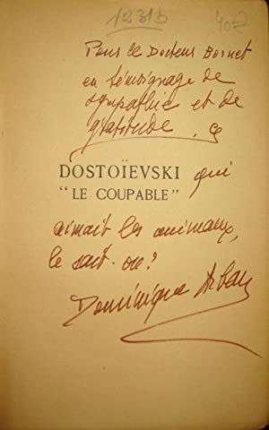 "Dostoïevski ""le coupable: DOSTOÏEVSKI]/ ARBAN, Dominique,"