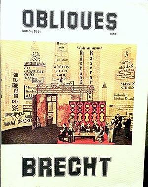 Numéro spécial double d'Obliques (20-21) consacré à Bertolt BRECHT...