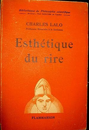 Esthétique du rire.: LALO, Charles