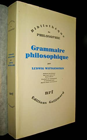 Grammaire philosophique: WITTGENSTEIN, Ludwig