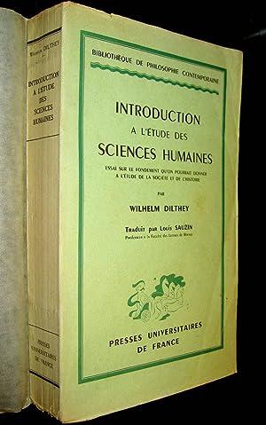 Introduction à l'étude des sciences humaines. (Einleitung in die ...