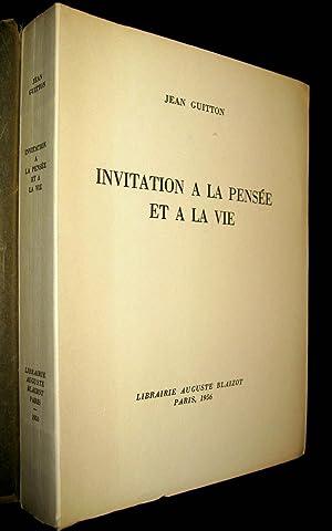 Invitation à la pensée et à la vie.: GUITTON, Jean