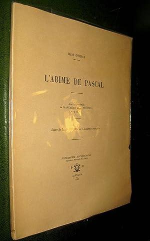L'Abîme de Pascal.: ONFRAY, René
