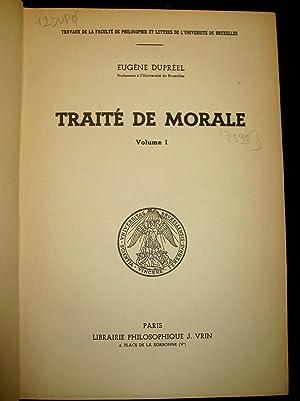 Traité de morale.: DUPREEL, Eugène